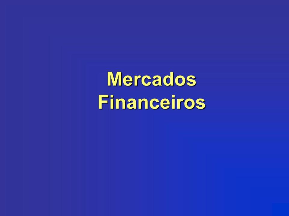 MERCADOS MONETÁRIO Atende necessidades imediatas de caixa Faz o controle da liquidez da economia Ex: LTNs, NTNs, CDBs e CDIs, BBCs CRÉDITO Atende necessidades de crédito (financiamento de consumo e capital de giro) Negociados títulos de curto prazo Ex: CDBs, contratos derivativos, etc.
