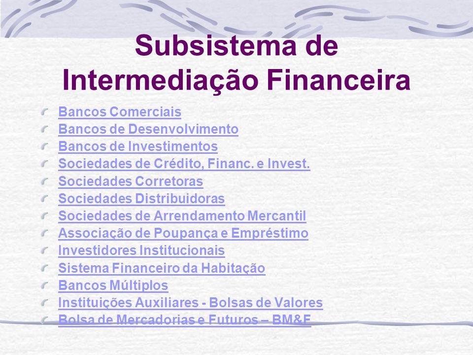 Sociedades de Crédito, Financiamento e Investimento Financiam bens de consumo duráveis por meio de crediários ou crédito direto ao consumidor.