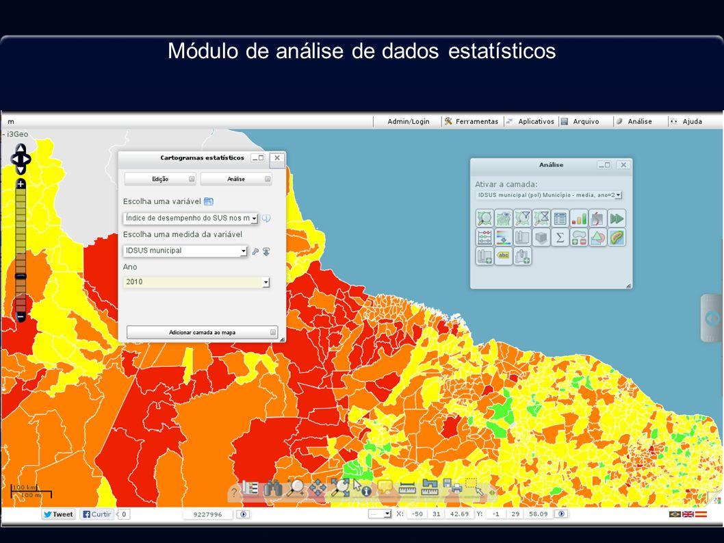 Módulo de análise de dados estatísticos