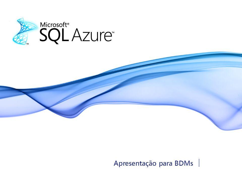 DOCUMENTO CONFIDENCIAL DA MICROSOFT Set 2009 | Página 12 Agilidade para o Desenvolvedor – Simetria com o DB local SQL Azure oferece serviço de banco de dados para aplicações construídas com base no Windows Azure Transact-SQL ADO.NET OLE DB, ODBC e JDBC LINQ Entity Framework ADO.NET Data Services Visual Studio SQL Server Management Studio Potencialize o modelo familiar de banco de dados relacional baseado em T-SQL Integração com as ferramentas existentes para garantir um rápido desenvolvimento e simetria com o banco de dados no local Banco de Dados Relacional recomendado para aplicações Windows Azure
