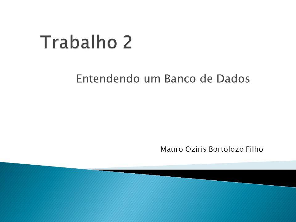 Entendendo um Banco de Dados Mauro Oziris Bortolozo Filho
