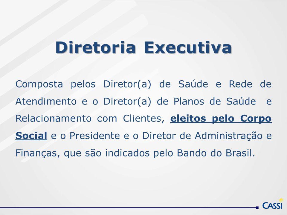 Diretoria Executiva Composta pelos Diretor(a) de Saúde e Rede de Atendimento e o Diretor(a) de Planos de Saúde e Relacionamento com Clientes, eleitos