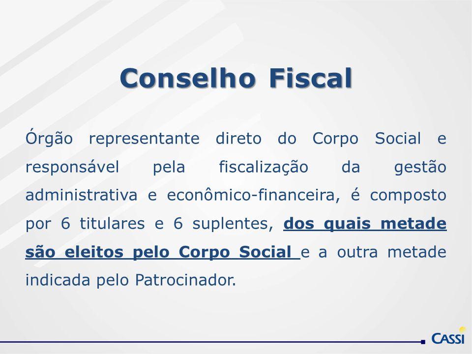 Conselho Fiscal Órgão representante direto do Corpo Social e responsável pela fiscalização da gestão administrativa e econômico-financeira, é composto