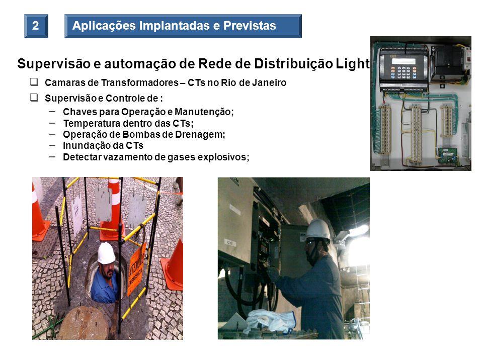Supervisão e automação de Rede de Distribuição Light Camaras de Transformadores – CTs no Rio de Janeiro Supervisão e Controle de : – Chaves para Opera