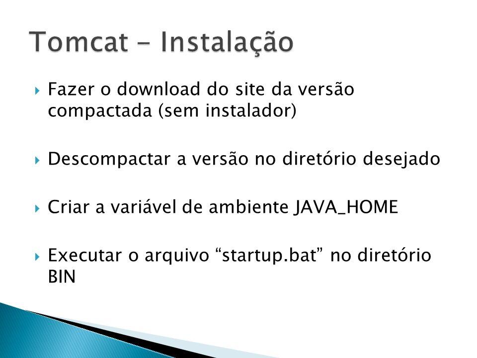 Fazer o download do site da versão compactada (sem instalador) Descompactar a versão no diretório desejado Criar a variável de ambiente JAVA_HOME Exec