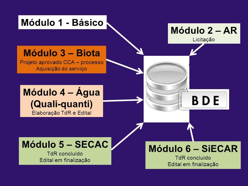 2000 Início de discussão sobre projeto BDE para o IEF/RJ 2007/2008 Proposta BDE do IEF/RJ - TdR 2009 Criação INEA; TdR BDE-INEA Fase I.