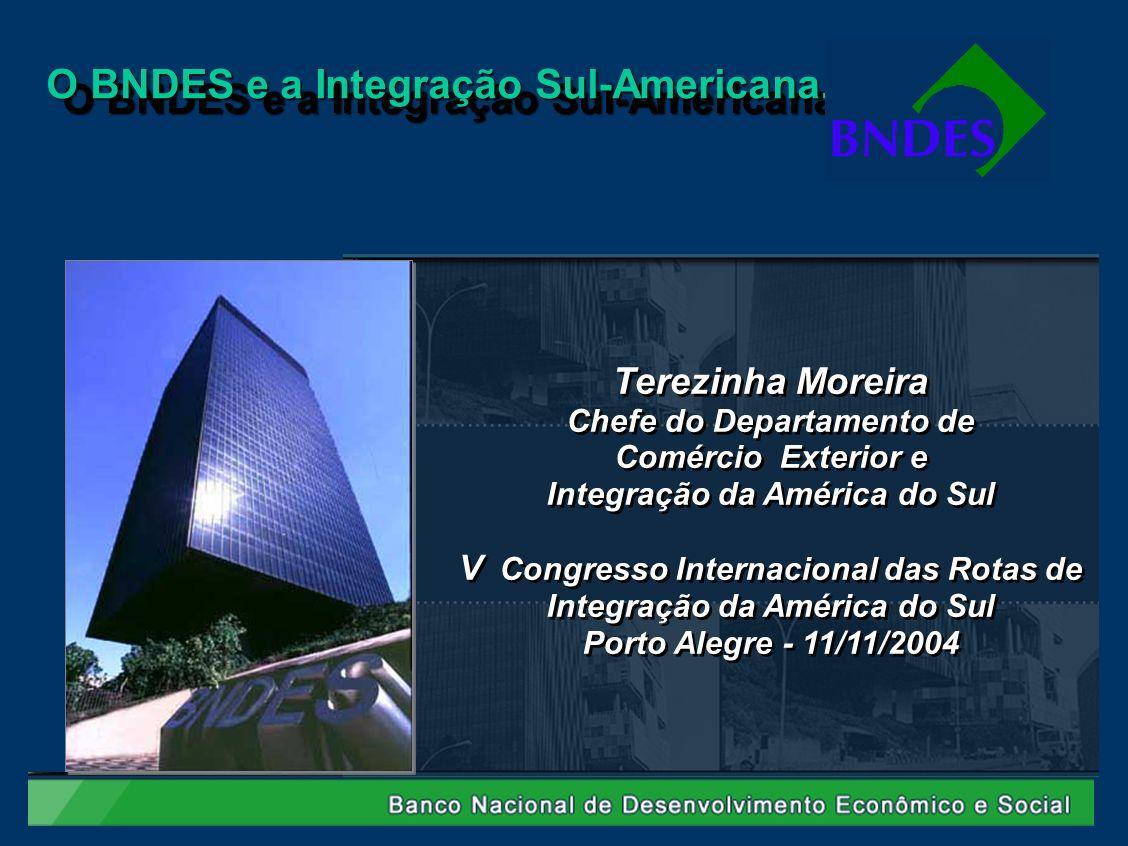 Terezinha Moreira Chefe do Departamento de Comércio Exterior e Integração da América do Sul V Congresso Internacional das Rotas de Integração da Améri