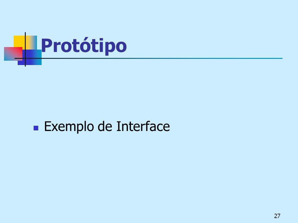 27 Protótipo Exemplo de Interface