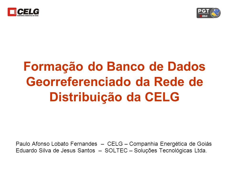 Formação do Banco de Dados Georreferenciado da Rede de Distribuição da CELG Paulo Afonso Lobato Fernandes – CELG – Companhia Energética de Goiás Eduar