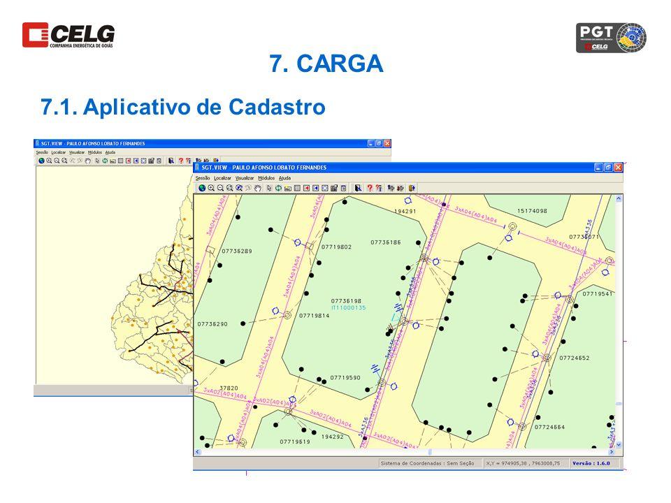7. CARGA 7.1. Aplicativo de Cadastro
