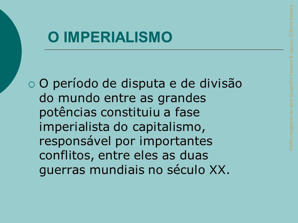 O período de disputa e de divisão do mundo entre as grandes potências constituiu a fase imperialista do capitalismo, responsável por importantes confl
