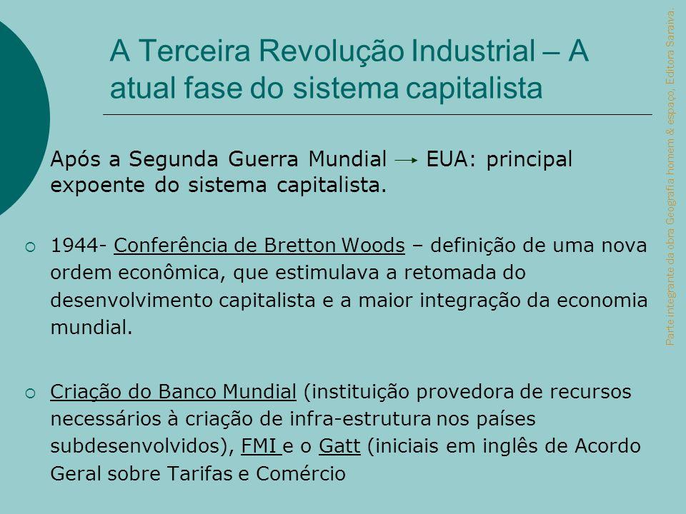 A Terceira Revolução Industrial – A atual fase do sistema capitalista Após a Segunda Guerra Mundial EUA: principal expoente do sistema capitalista. 19