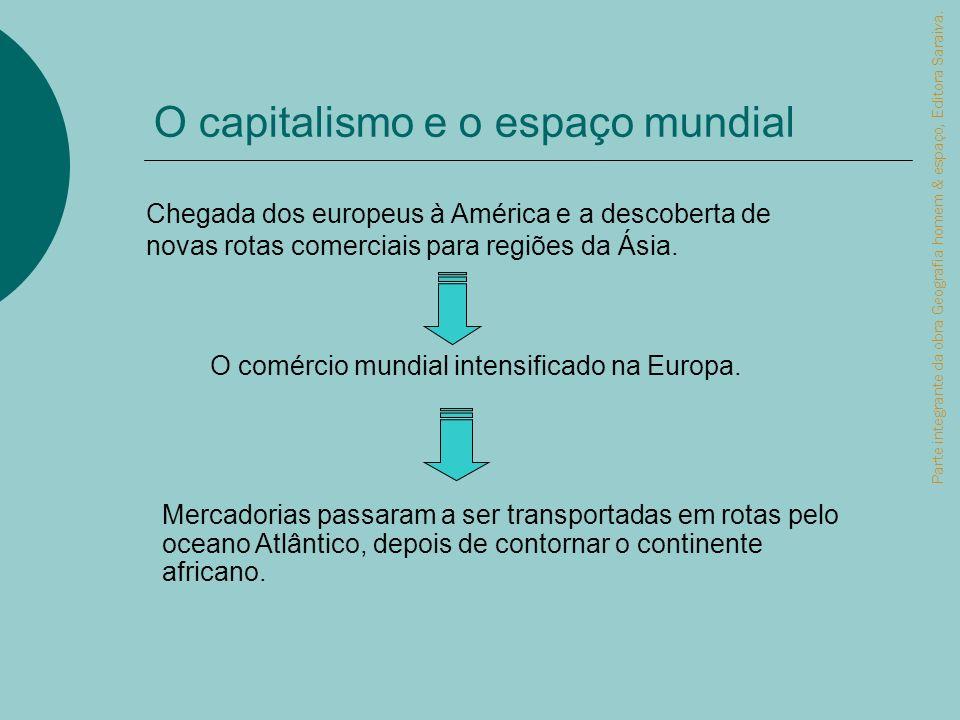 O capitalismo e o espaço mundial Parte integrante da obra Geografia homem & espaço, Editora Saraiva. Chegada dos europeus à América e a descoberta de