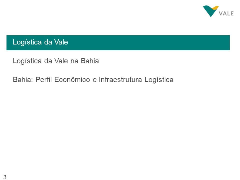 14 Logística da Vale Logística da Vale na Bahia Bahia: Perfil Econômico e Infraestrutura Logística