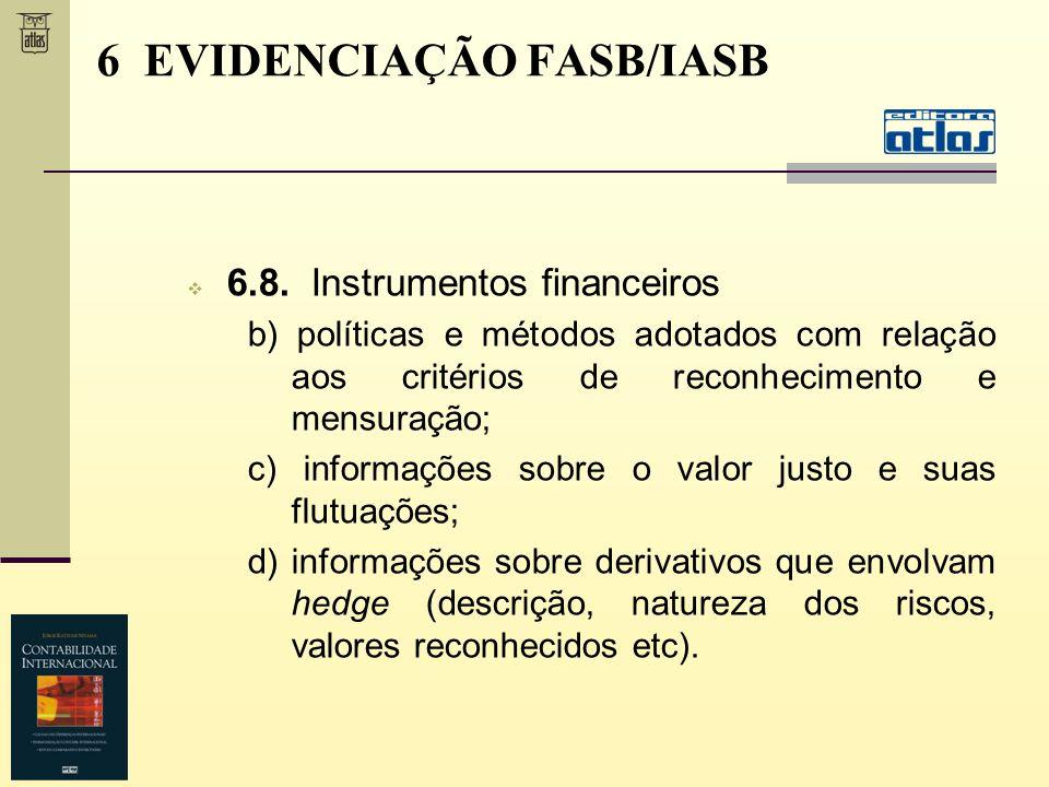 6.8. Instrumentos financeiros b) políticas e métodos adotados com relação aos critérios de reconhecimento e mensuração; c) informações sobre o valor j