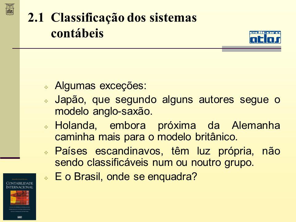 Algumas exceções: Japão, que segundo alguns autores segue o modelo anglo-saxão. Holanda, embora próxima da Alemanha caminha mais para o modelo britâni