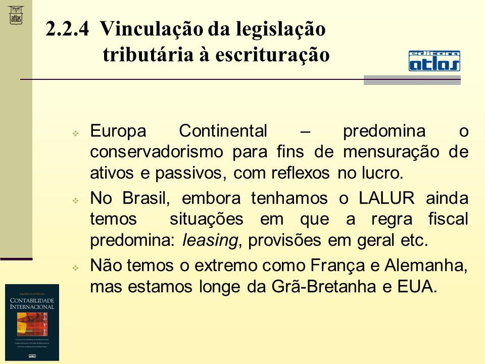 Europa Continental – predomina o conservadorismo para fins de mensuração de ativos e passivos, com reflexos no lucro. No Brasil, embora tenhamos o LAL