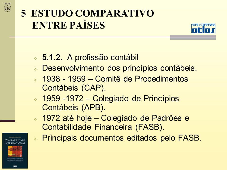 5.1.2. A profissão contábil Desenvolvimento dos princípios contábeis. 1938 - 1959 – Comitê de Procedimentos Contábeis (CAP). 1959 -1972 – Colegiado de