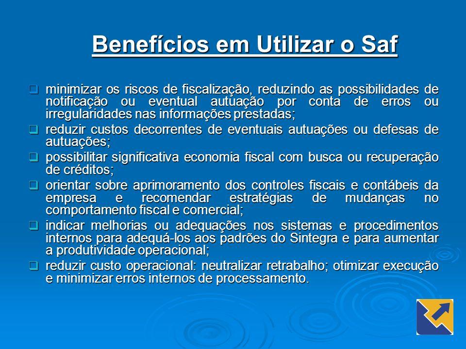 Benefícios em Utilizar o Saf minimizar os riscos de fiscalização, reduzindo as possibilidades de notificação ou eventual autuação por conta de erros o