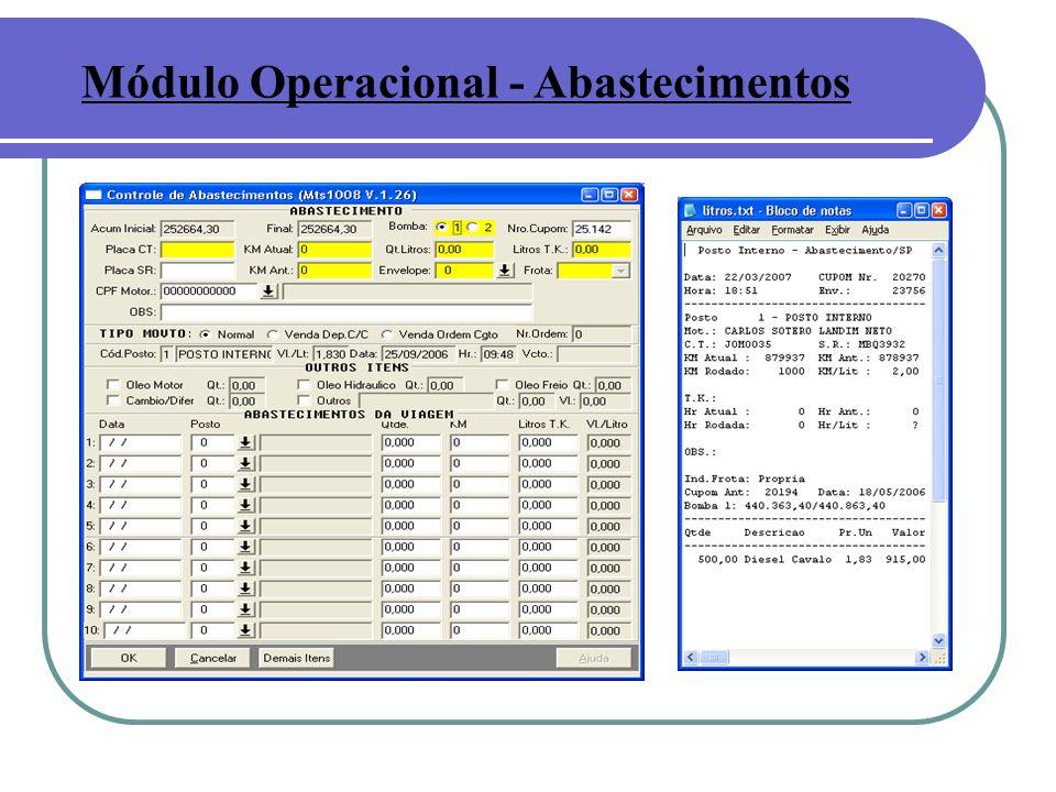 Módulo Operacional - Abastecimentos