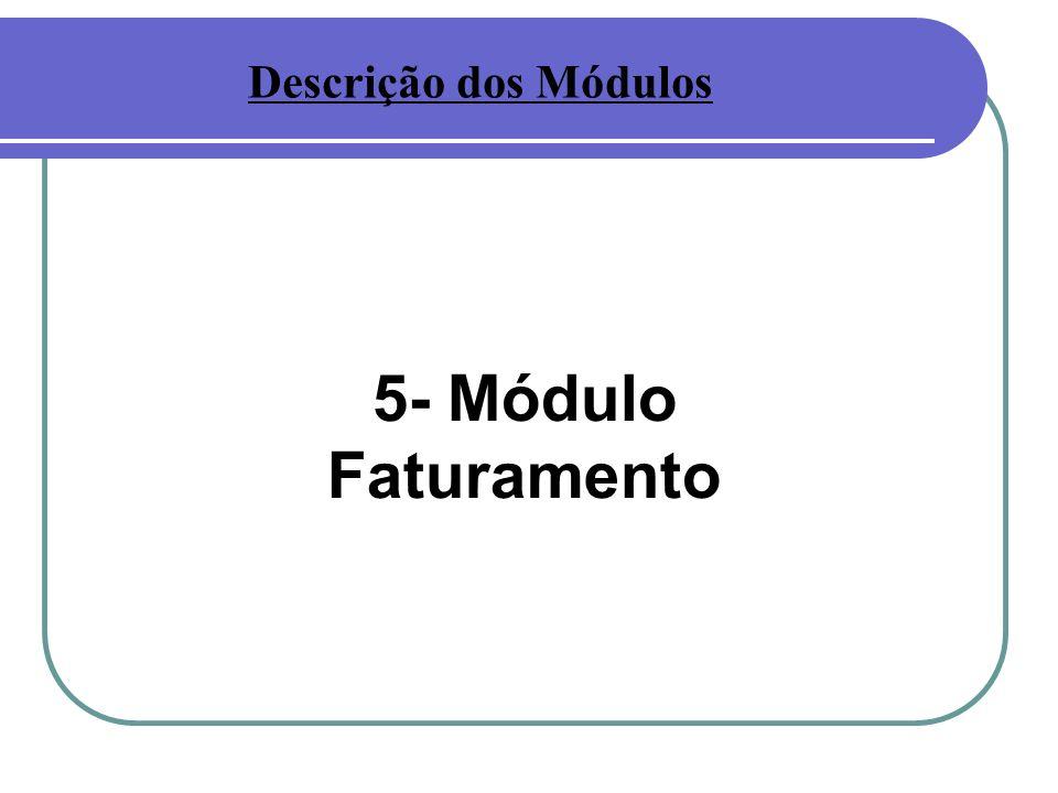 5- Módulo Faturamento Descrição dos Módulos