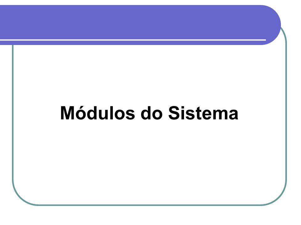 Módulos do Sistema