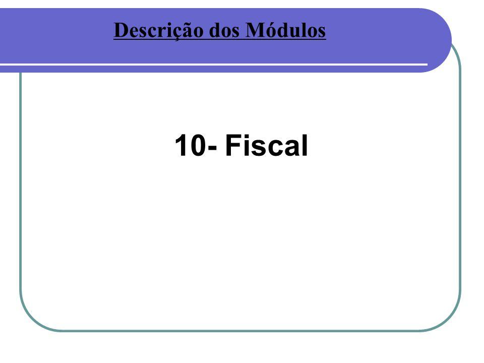 10- Fiscal Descrição dos Módulos