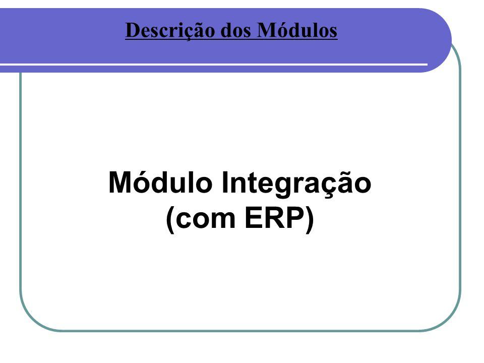 Módulo Integração (com ERP) Descrição dos Módulos