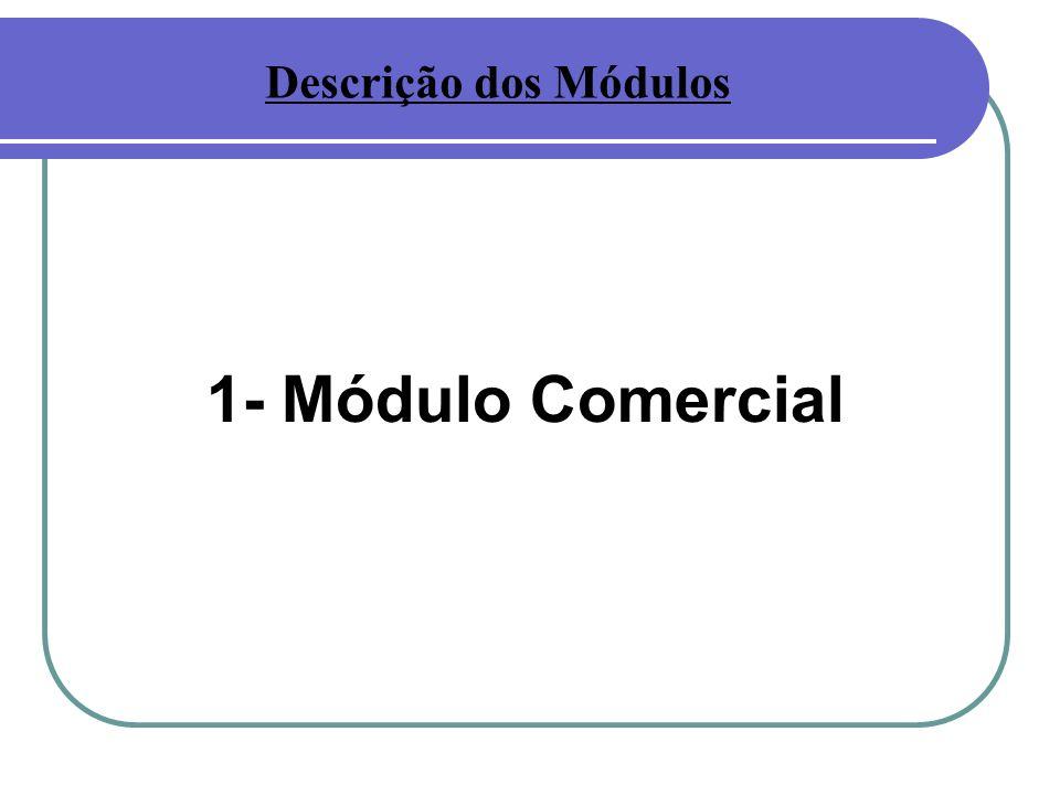 1- Módulo Comercial Descrição dos Módulos