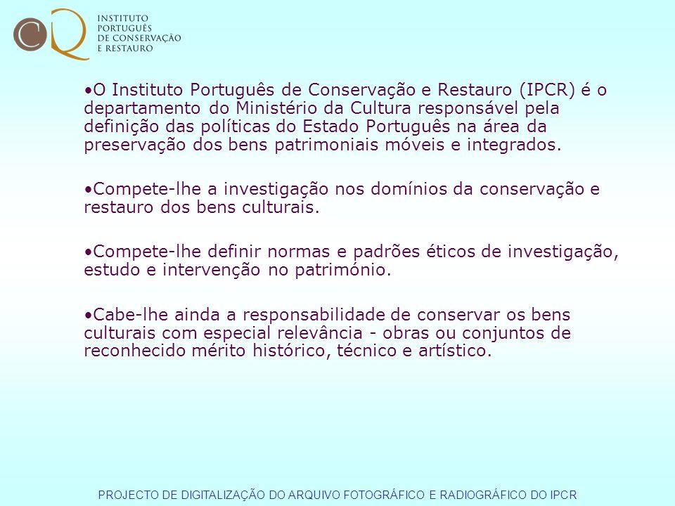 O Instituto Português de Conservação e Restauro (IPCR) é o departamento do Ministério da Cultura responsável pela definição das políticas do Estado Po