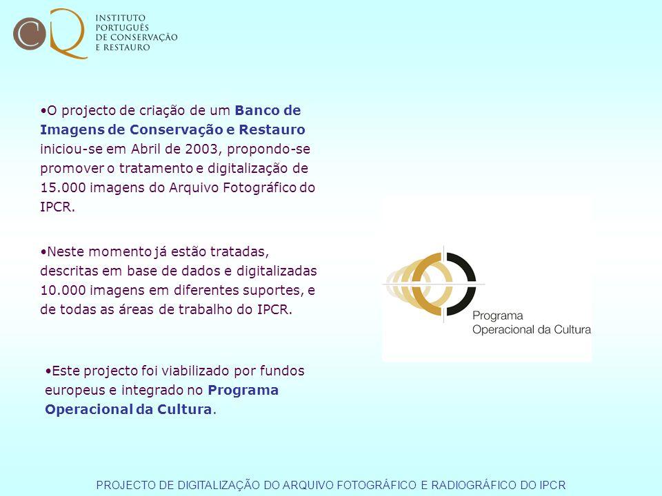 O projecto de criação de um Banco de Imagens de Conservação e Restauro iniciou-se em Abril de 2003, propondo-se promover o tratamento e digitalização