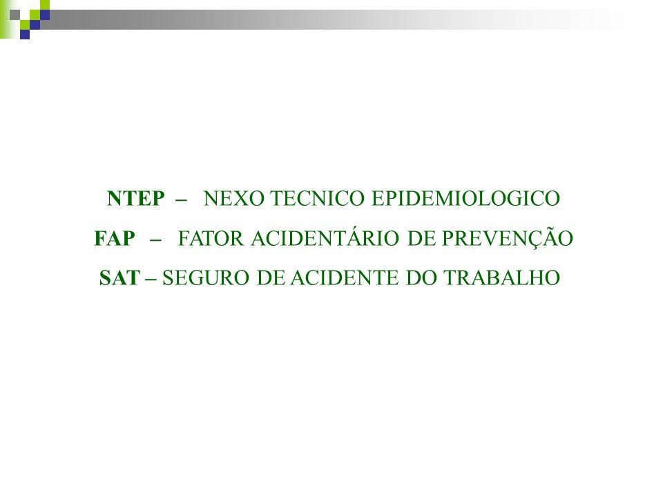 NTEP – IN 31 A inexistência de nexo técnico epidemiológico não elide o nexo entre o trabalho e o agravo, cabendo à perícia médica a caracterização técnica do acidente do trabalho, podendo: 1.