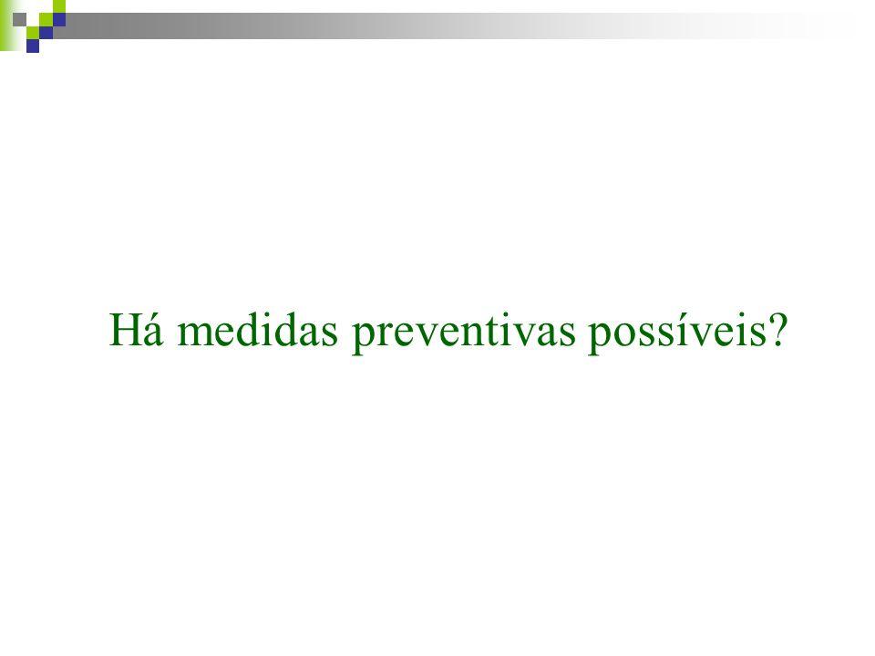 Há medidas preventivas possíveis?