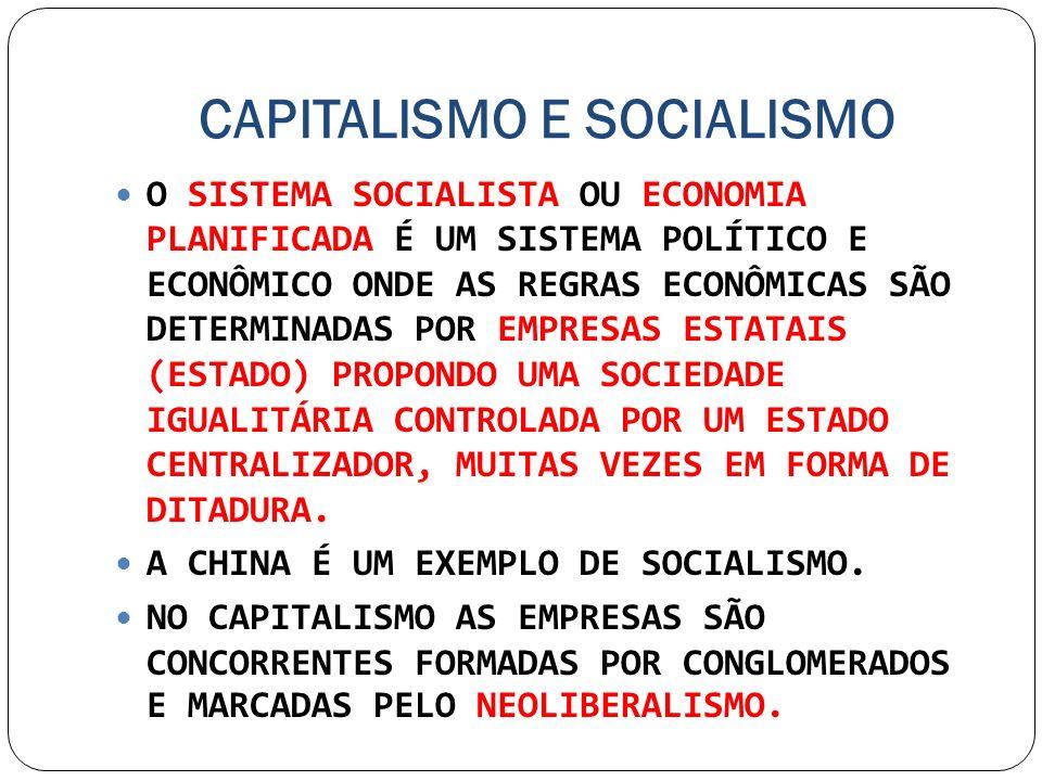 CAPITALISMO E SOCIALISMO O SISTEMA SOCIALISTA OU ECONOMIA PLANIFICADA É UM SISTEMA POLÍTICO E ECONÔMICO ONDE AS REGRAS ECONÔMICAS SÃO DETERMINADAS POR