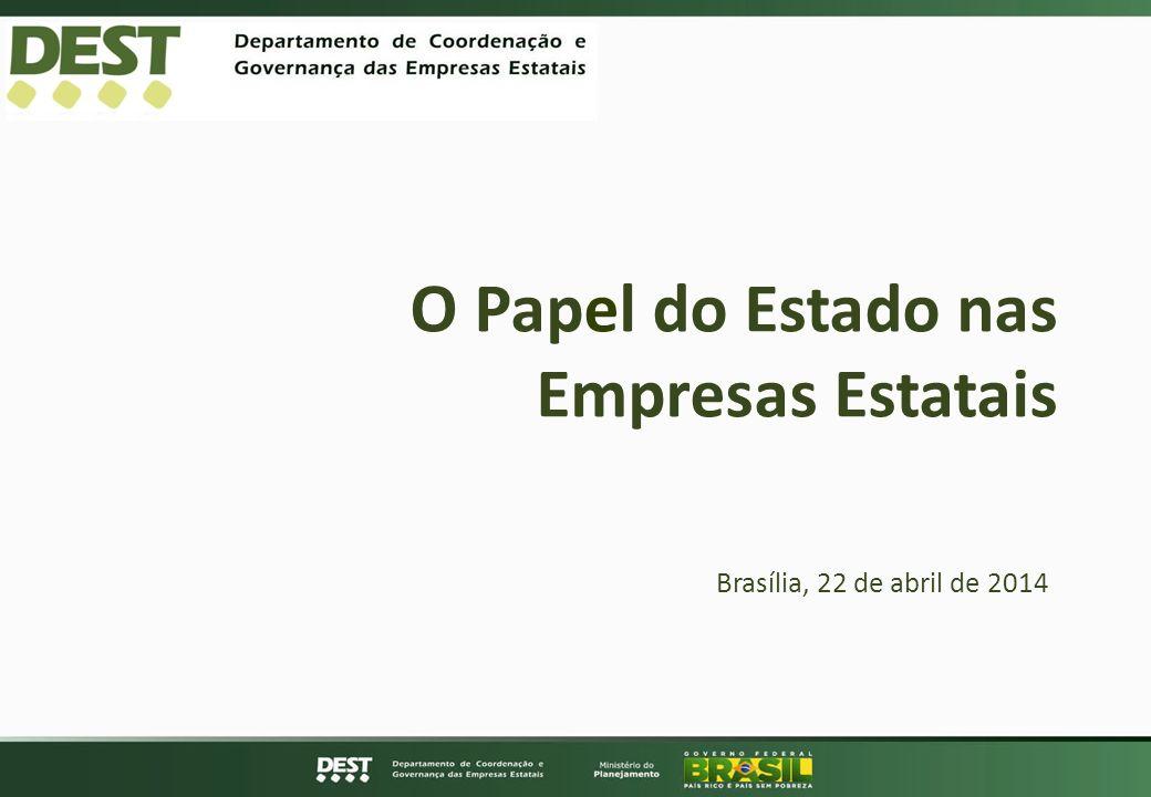 O Papel do Estado nas Empresas Estatais Brasília, 22 de abril de 2014