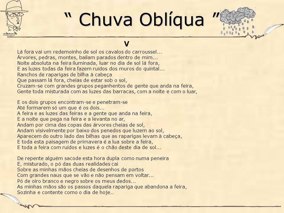 Chuva Oblíqua Chuva Oblíqua VI O maestro sacode a batuta, E lânguida e triste a música rompe...