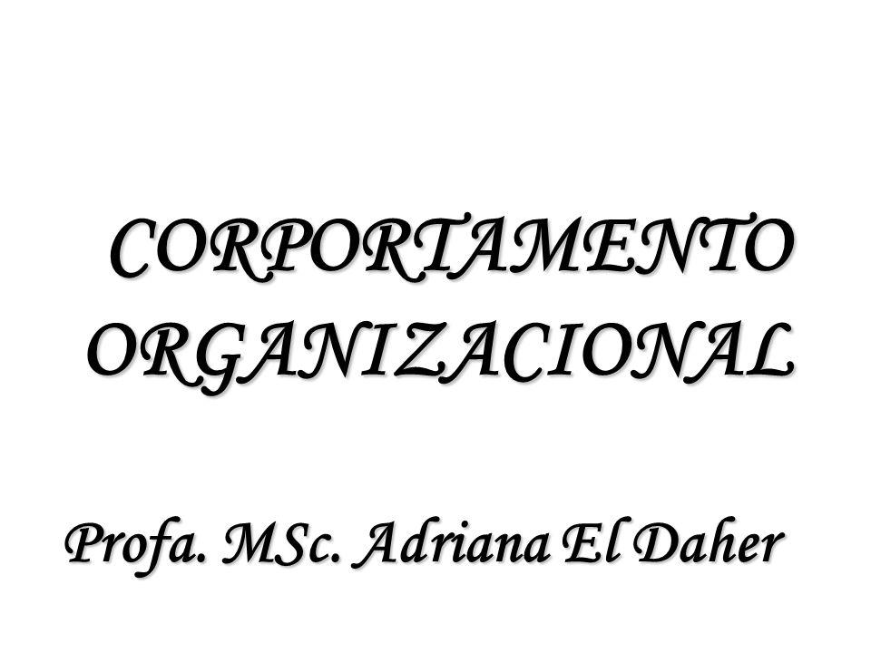 CORPORTAMENTO ORGANIZACIONAL CORPORTAMENTO ORGANIZACIONAL Profa. MSc. Adriana El Daher