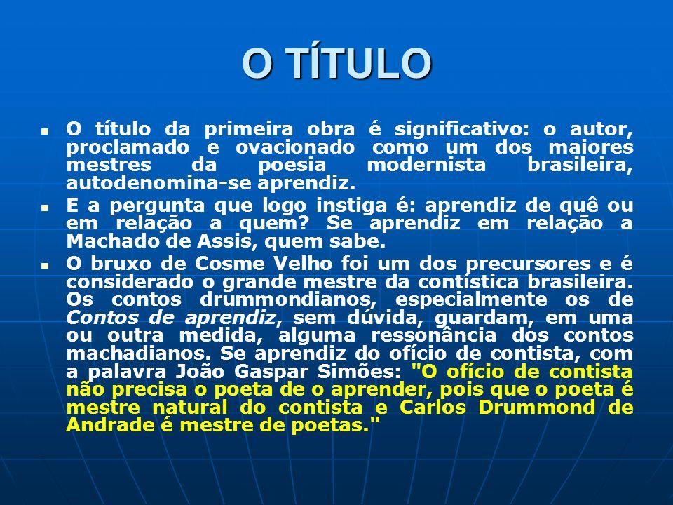 O TÍTULO O título da primeira obra é significativo: o autor, proclamado e ovacionado como um dos maiores mestres da poesia modernista brasileira, auto