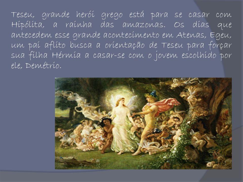 Teseu, grande herói grego está para se casar com Hipólita, a rainha das amazonas. Os dias que antecedem esse grande acontecimento em Atenas, Egeu, um