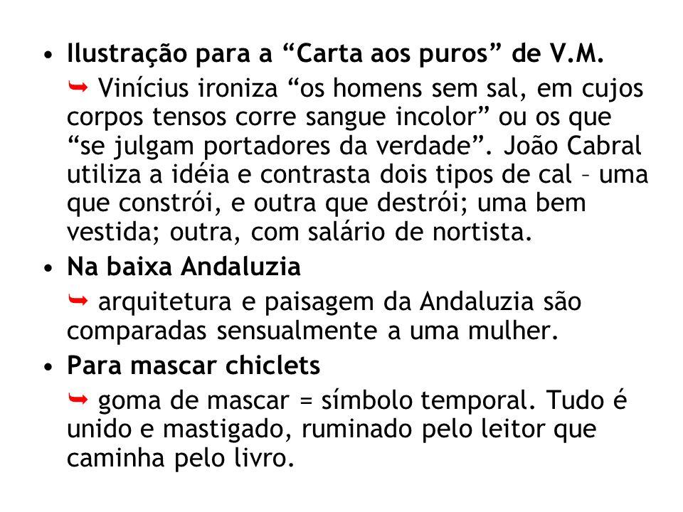 Ilustração para a Carta aos puros de V.M. Vinícius ironiza os homens sem sal, em cujos corpos tensos corre sangue incolor ou os que se julgam portador