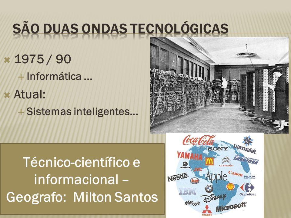1975 / 90 Informática... Atual: Sistemas inteligentes...