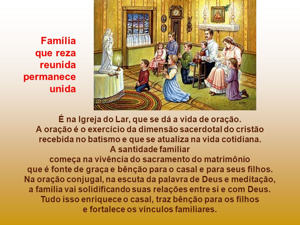 - A terceira forma do amor vivido na família é o amor filial. O amor dos filhos para com os pais. Nossos pais, nossa família. - A quarta forma de amor