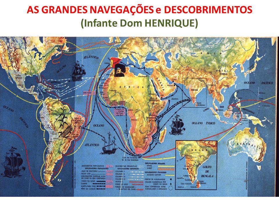 AS GRANDES NAVEGAÇÕES e DESCOBRIMENTOS (Infante Dom HENRIQUE)