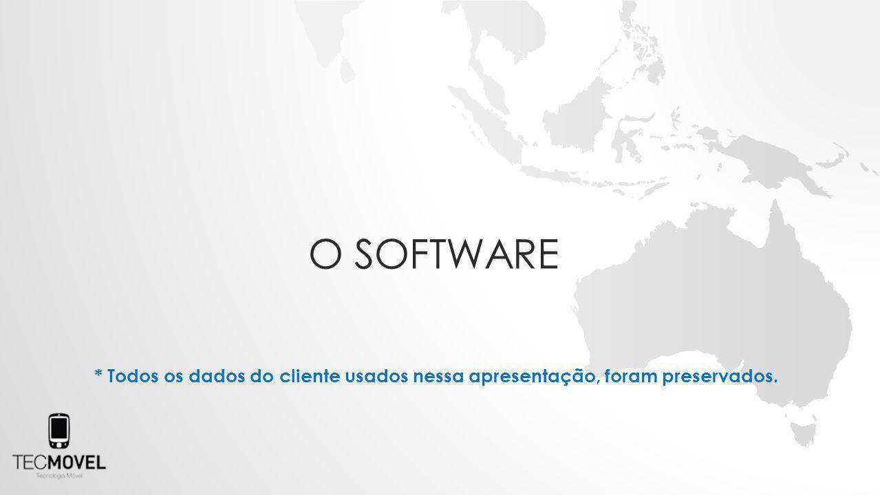 * Todos os dados do cliente usados nessa apresentação, foram preservados. O SOFTWARE