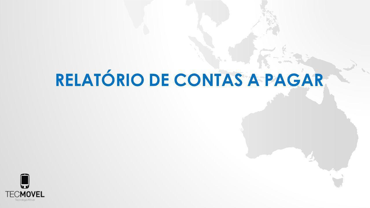 RELATÓRIO DE CONTAS A PAGAR