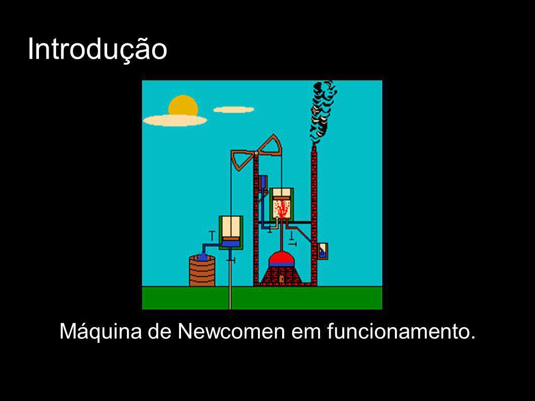 Introdução Máquina de Newcomen em funcionamento.