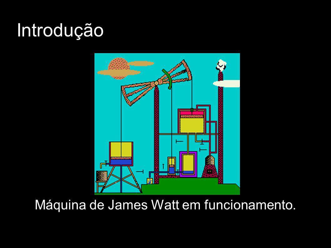 Introdução Máquina de James Watt em funcionamento.