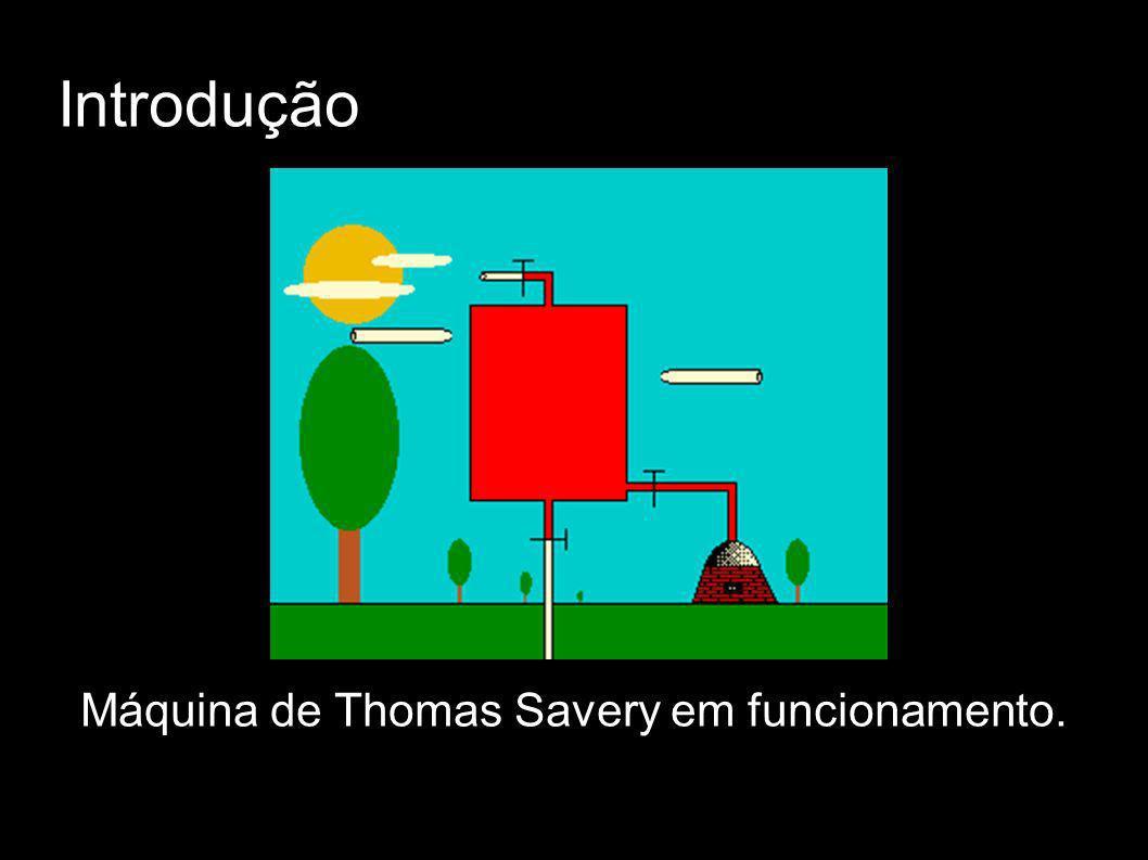 Introdução Máquina de Thomas Savery em funcionamento.