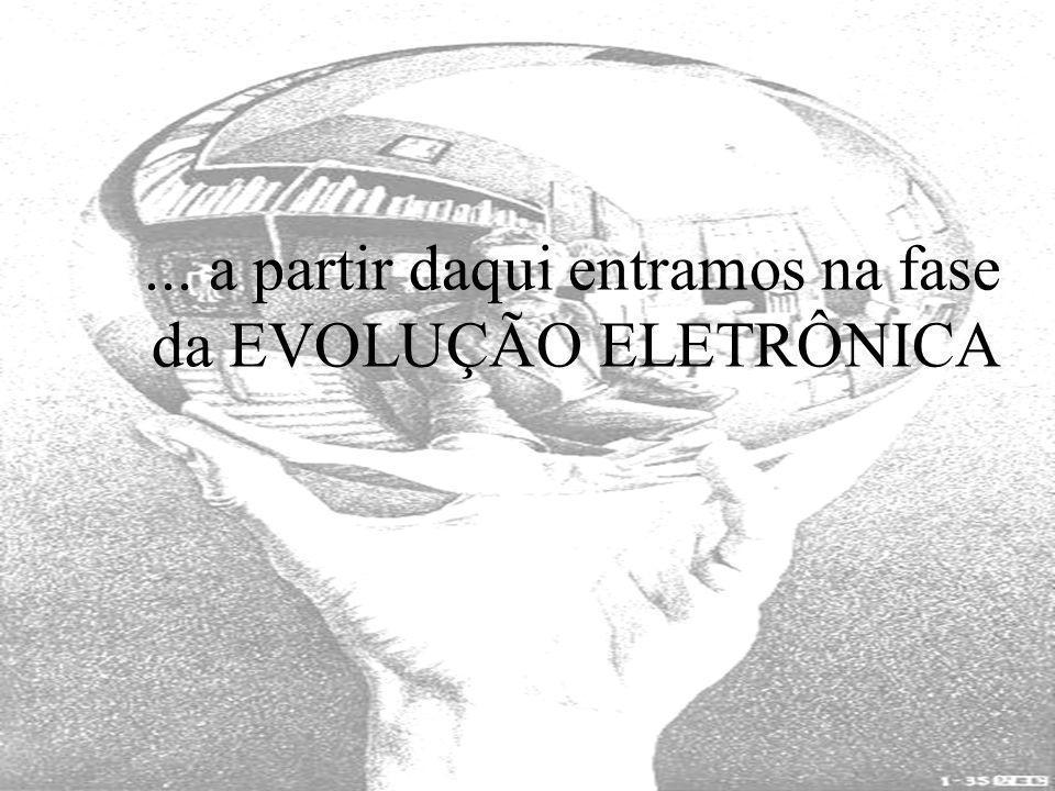 ... a partir daqui entramos na fase da EVOLUÇÃO ELETRÔNICA