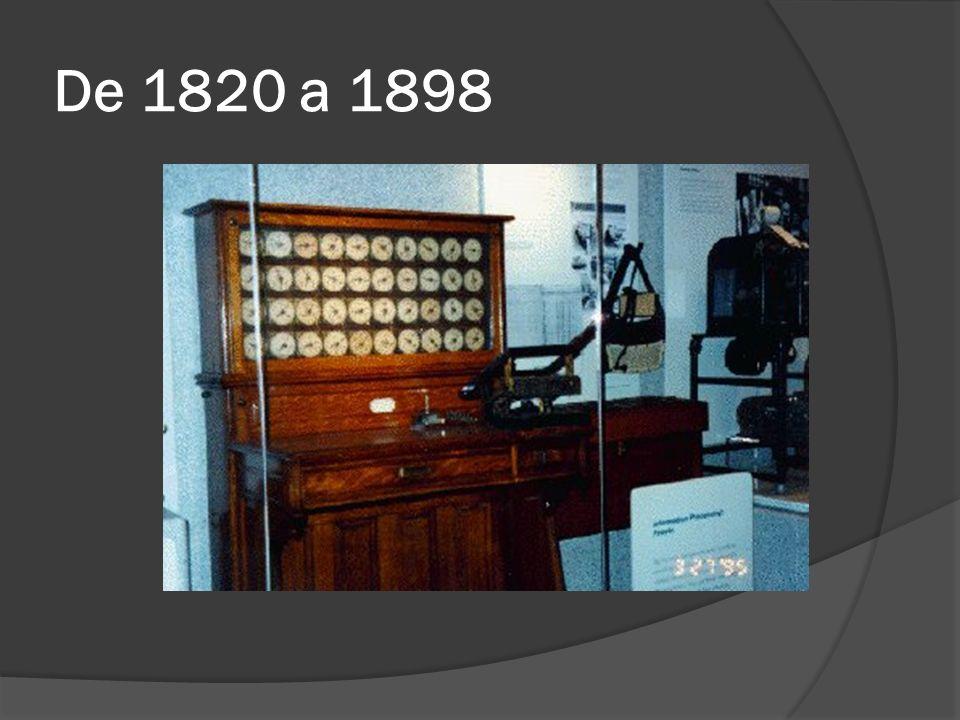 De 1820 a 1898